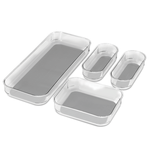 madesmart® Clear Bin Pack 4 Piece Perspective: front