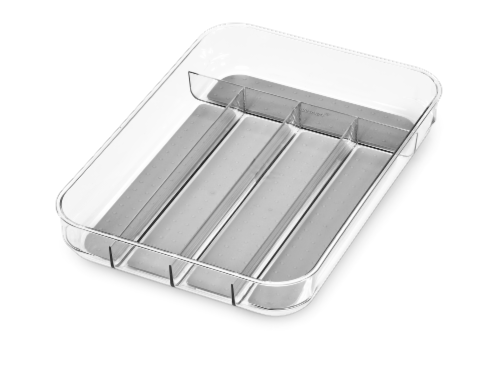 Madesmart Mini Silverware Tray - Clear Perspective: front