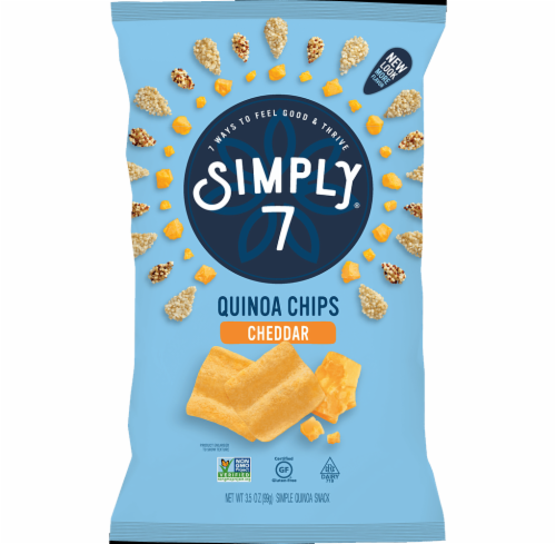 Simply 7 Cheddar Quinoa Chips Perspective: front