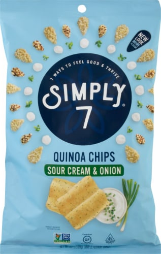 Simply 7 Quinoa Chip Sour Cream & Onion Perspective: front