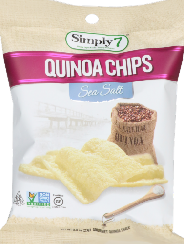 Simply7 Sea Salt Quinoa Chips Perspective: front