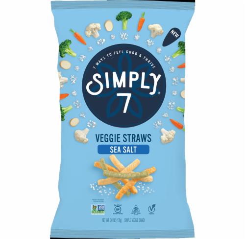 Simply 7 Sea Salt Veggie Straws Snack Perspective: front