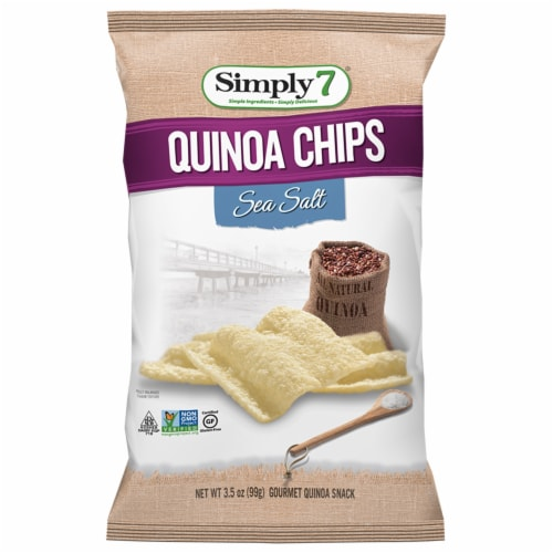 Simply 7 Sea Salt Quinoa Chips, 3.5 Ounce -- 6 per case. Perspective: front