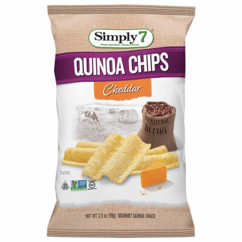 Simply 7 Cheddar Quinoa Chips, 3.5 Ounce -- 6 per case. Perspective: front