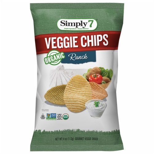 Simply 7 Organic Ranch Veggie Chips, 4 Ounce -- 12 per case. Perspective: front