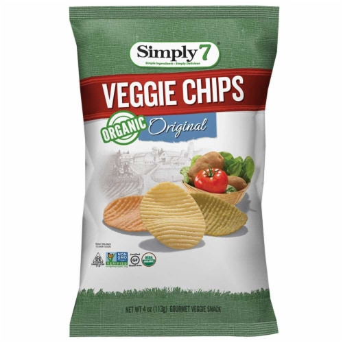 Simply 7 Organic Original Veggie Chips, 4 Ounce -- 6 per case. Perspective: front