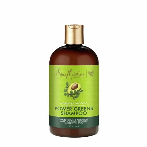 Shea Moisture® Sulfate-Free Power Greens Moringa & Avocado Shampoo for Curly Hair Perspective: front