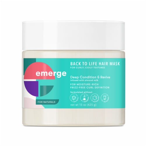 Emerge Deep Condition & Revive Back to Life Treatment Hair Mask Perspective: front