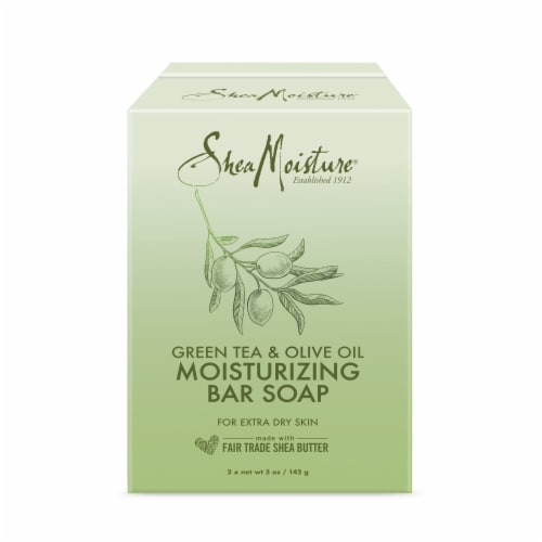 Shea Moisture Green Tea & Olive Oil Moisturizing Bar Soap Perspective: front