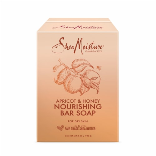 Shea Moisture Apricot & Honey Nourishing Bar Soap Perspective: front