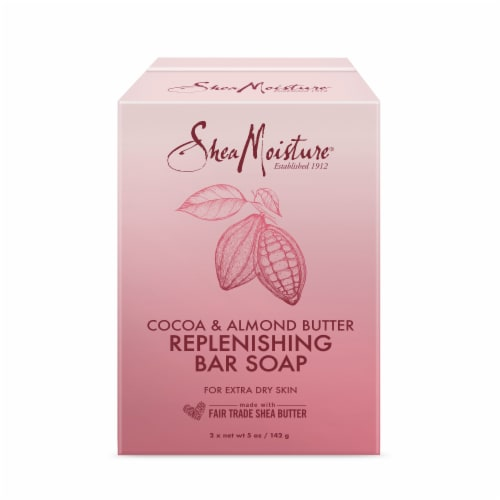 Shea Moisture Cocoa & Almond Butter Replenishing Bar Soap Perspective: front