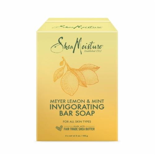 Shea Moisture Meyer Lemon & Mint Invigorating Bar Soap Perspective: front