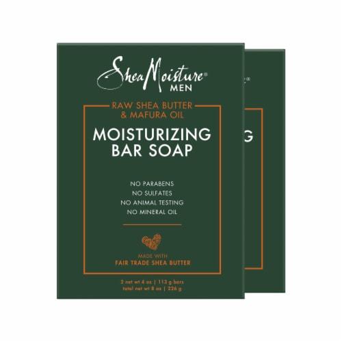 Shea Moisture® Men Moisturizing Bar Soap Cleanser Perspective: front