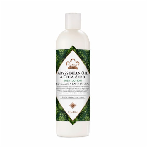 Nubian Heritage Body Lotion Abyssinian Oil & Chia Seed Perspective: front