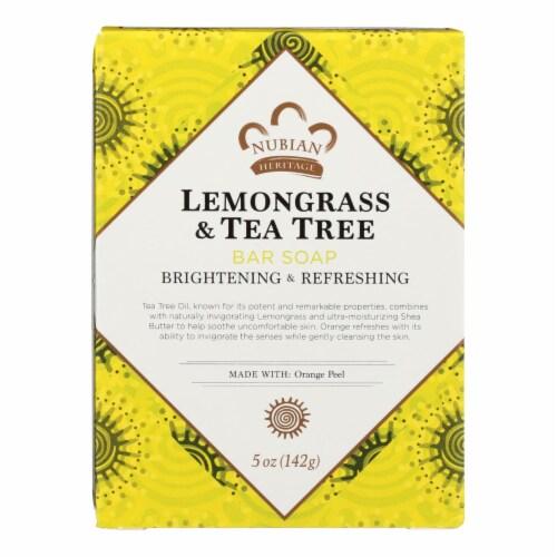 Nubian Heritage Lemongrass Tea Tree Bar Perspective: front