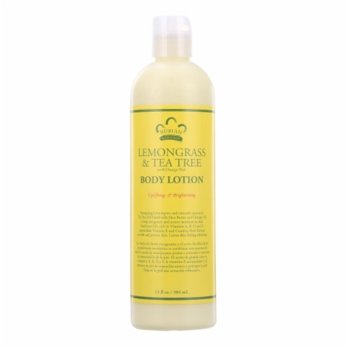 Nubian Heritage Lotion - Lemongrass and Tea Tree - 13 oz Perspective: front