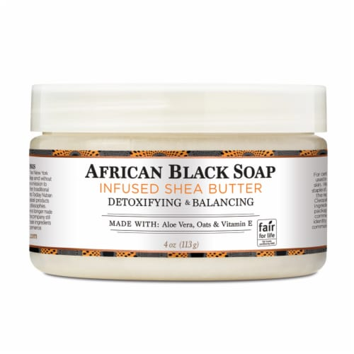 Nubian Heritage African Black Soap Infused Shea Butter Perspective: front
