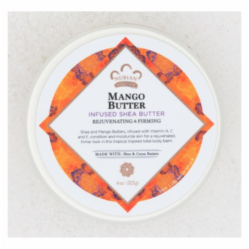 Nubian Heritage Mango Butter Infused Shea Butter Perspective: front