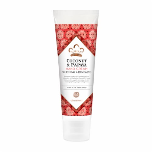 Nubian Heritage Coconut Papaya Hand Cream Perspective: front