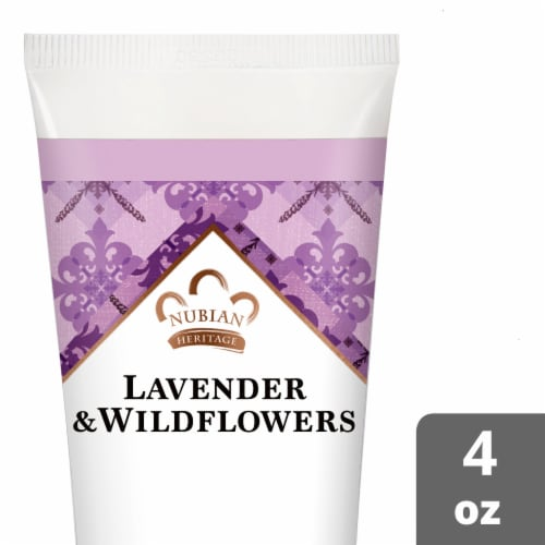 Nubian Heritage Lavender Wildflower Hand Cream Perspective: front