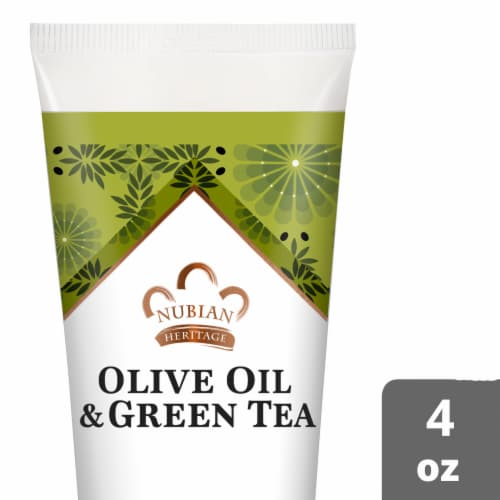 Nubian Heritage Olive Oil and Green Tea Hand Cream Perspective: front