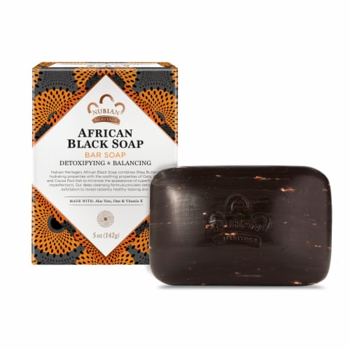 Nubian Heritage African Black Bar Soap Perspective: front