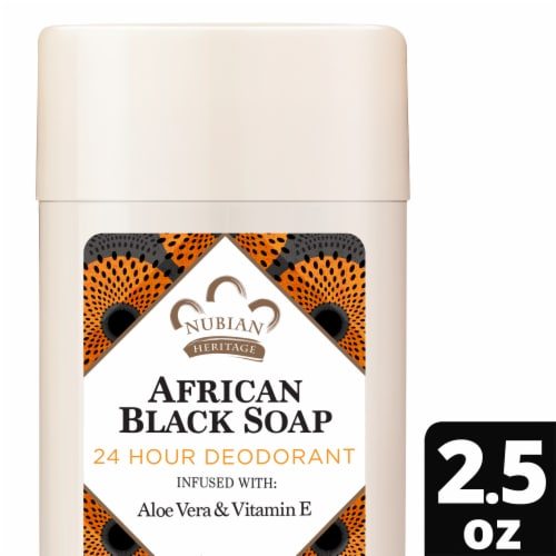 Nubian Heritage African Black Soap Deodorant Perspective: front