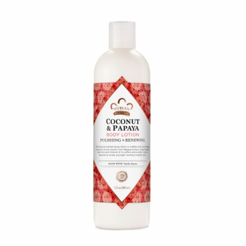 Nubian Heritage Paraben-Free Coconut & Papaya Body Lotion Perspective: front