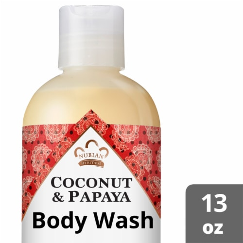 Nubian Heritage Coconut Papaya Body Wash Perspective: front