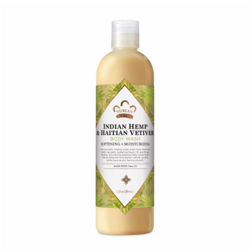 Nubian Heritage Indian Hemp and Haitian Vetiver Body Wash Perspective: front