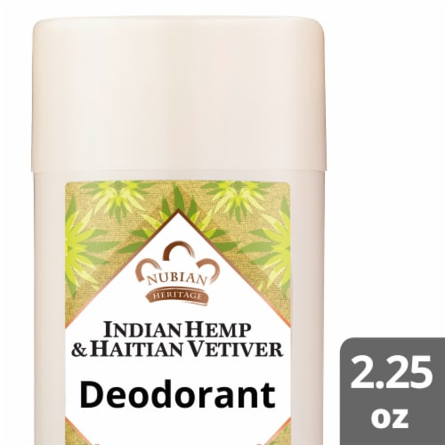 Nubian Heritage Indian Hemp and Haitian Vetiver Deodorant Perspective: front