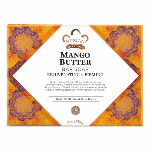 Nubian Heritage Mango Butter Soap Perspective: front