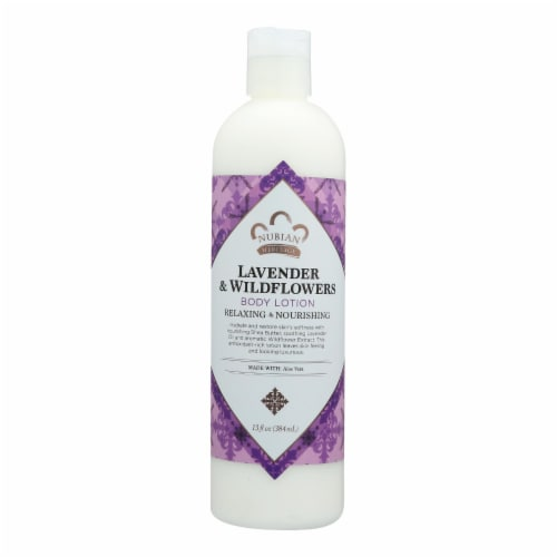 Nubian Heritage Lavender Wildflower Lotion Perspective: front