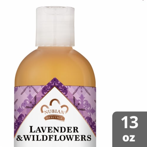 Nubian Heritage Lavender Wildflower Body Wash Perspective: front