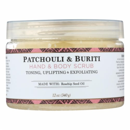 Nubian Heritage  Hand & Body Scrub with Shea Butter & Rose Hips Patchouli & Buriti Perspective: front