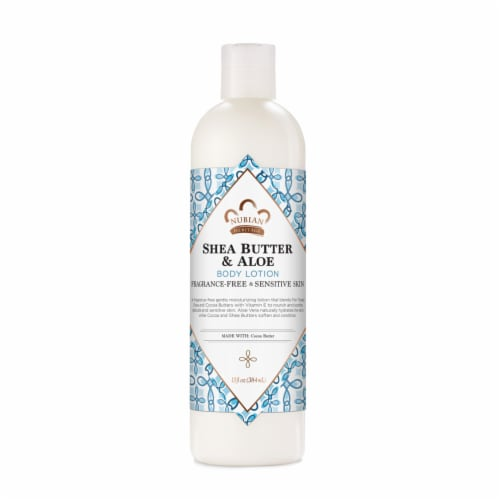 Nubian Heritage Paraben-Free Shea Butter & Aloe Body Lotion for Sensitive Skin Perspective: front