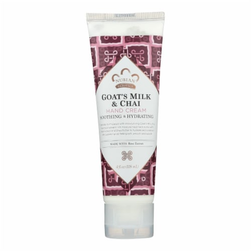 Nubian Heritage  Hand Cream Goat's Milk And Chai with Rose Extract Perspective: front