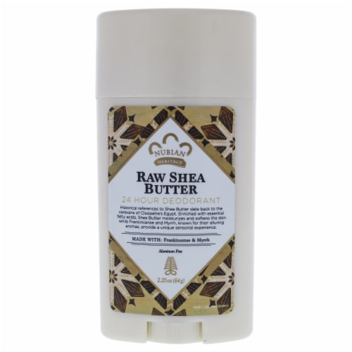Nubian Heritage Raw Shea Butter 24 Hour Deodorant Deodorant Stick 2.25 oz Perspective: front
