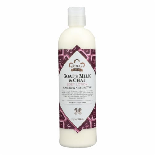 Nubian Heritage Lotion - Goats Milk and Chai - 13 fl oz Perspective: front