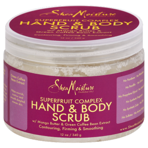 Shea Moisture® Superfruit Complex Hand & Body Scrub Perspective: front