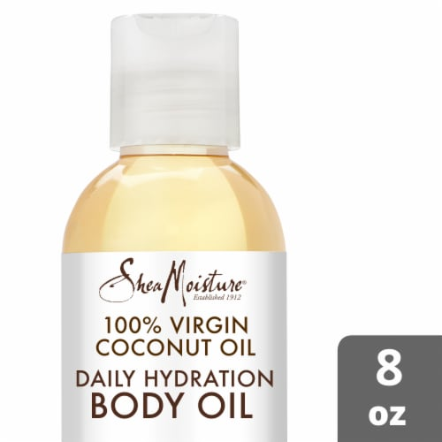 Shea Moisture 100% Virgin Coconut Oil Daily Hydration Body Oil Perspective: front