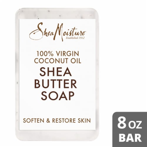 SheaMoisture 100% Virgin Coconut Oil Shea Butter Bar Soap Perspective: front