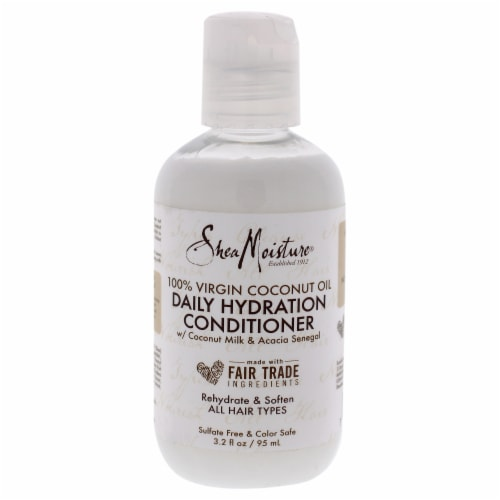 Shea Moisture 100% Virgin Coconut Oil Daily Hydration Conditioner Perspective: front