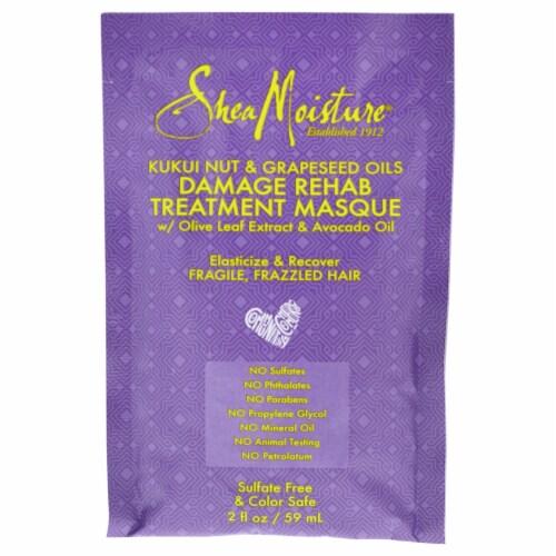Shea Moisture Kukui Nut & Grapeseed Oils Damage Rehab Treatment Masque 2 oz Perspective: front