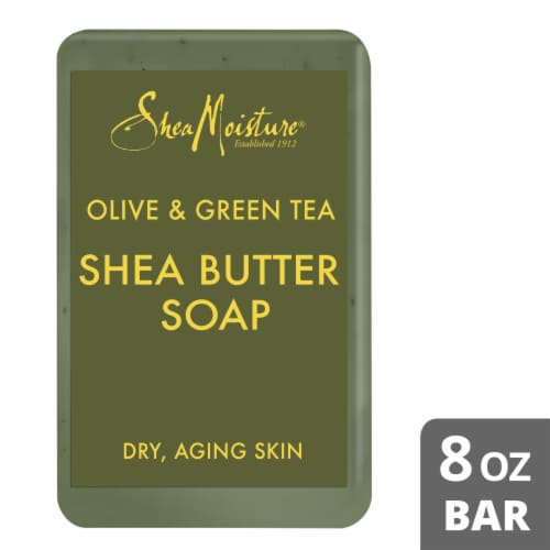 Shea Moisture Olive & Green Tea Shea Butter Bar Soap Perspective: front