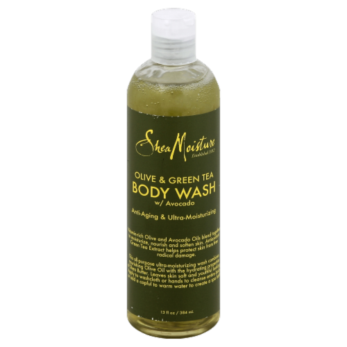 Shea Moisture Olive & Green Tea Body Wash Perspective: front