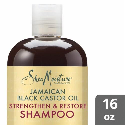 Shea Moisture Jamaican Black Castor Oil Strengthen Grow & Restore Shampoo Perspective: front