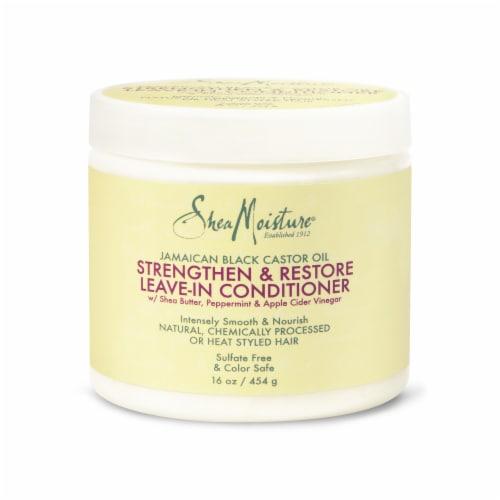Shea Moisture Jamaican Black Castor Oil Strengthen Grow & Restore Leave-In Conditioner Perspective: front