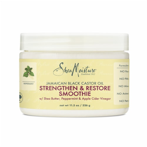 Shea Moisture Jamaican Black Castor Oil Strengthen & Restore Smoothie Perspective: front