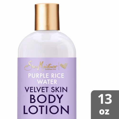 Shea Moisture Purple Rice Water Velvet Skin Body Lotion Perspective: front